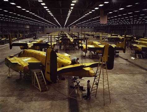 American Gardenscapes Kansas City American B 25 Mitchell Production Line 1942
