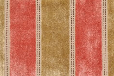 Coral Velvet Upholstery Fabric by Tfa Bruges Velvet Upholstery Fabric In Coral