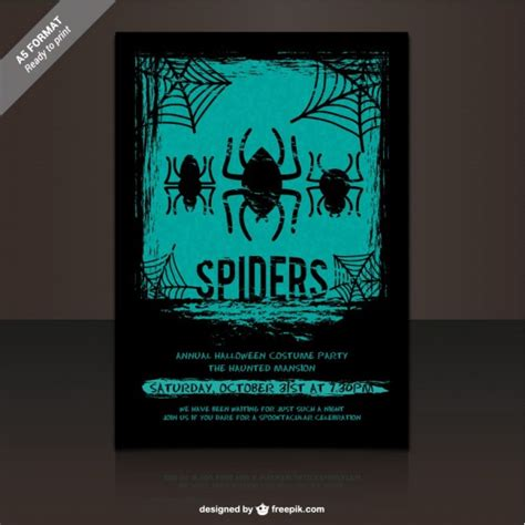 costume flyer template vector free