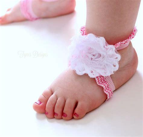 diy baby barefoot sandals diy barefoot baby sandals may arts wholesale ribbon