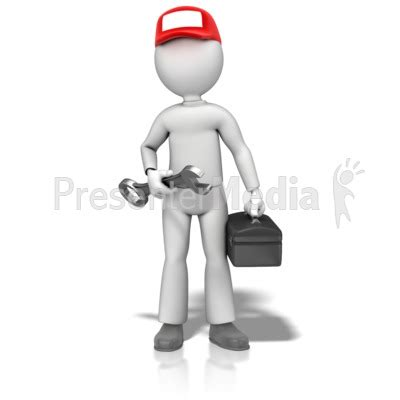 Construction Plan Symbols Fix It Guy Hold Wrench Presentation Clipart Great
