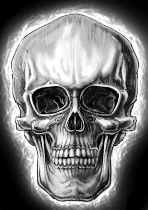 Semi-realistic skull by wickedworx.deviantart.com on