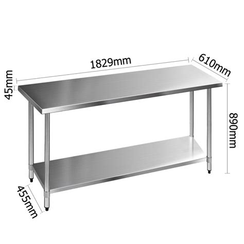 stainless steel kitchen benches 430 stainless steel kitchen work bench table 1829mm buy