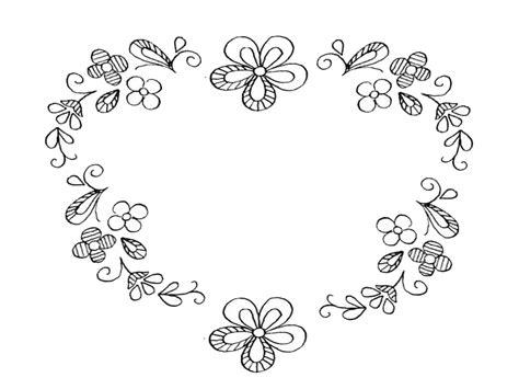 schemi ricamo fiori schema ricamo quot cuore floreale quot
