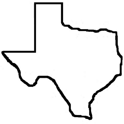 texas map shape state outlines clip cliparts co