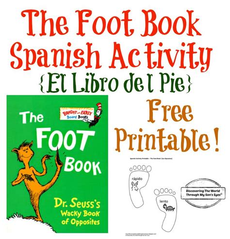 libro the foot book big dr seuss foot book spanish activity and free printable discovering the world through my son s
