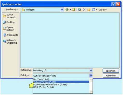 Word Vorlage In Outlook Einbinden Im Outlook Eine E Mail Vorlage Anlegen Zeitbl 252 Ten