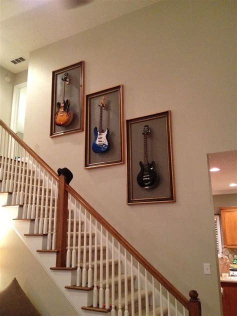 cool ways  display  guitar collections homemydesign