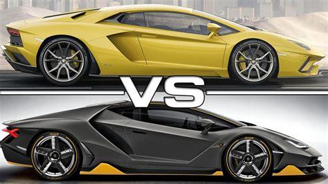 lamborghini centenario roadster vs aventador 2017 lamborghini aventador s vs 2017 lamborghini centenario youtube
