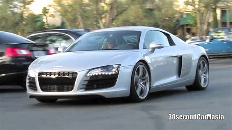 Audi R8 Youtube by Silver Audi R8 On The Road Youtube