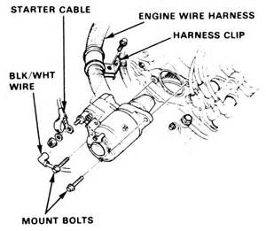 how to remove a 88 honda crx si starter