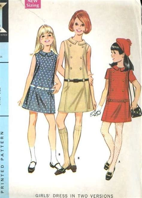 pattern review drop waist dress 1960s mccalls 9336 girls retro drop waist dress pattern