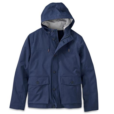 timberland timberland mens a7 navy mount clay wharf bomber hyvent waterproof jacket