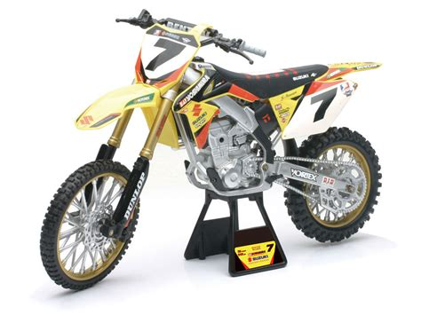 toy motocross james stewart suzuki rmz450 new ray toys dirt bike 1 12