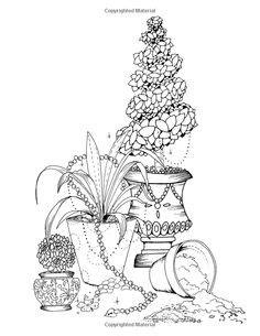 libro inky garden creative colouring inky garden creative colouring with quests 3d paper flower helen elliston h c elliston