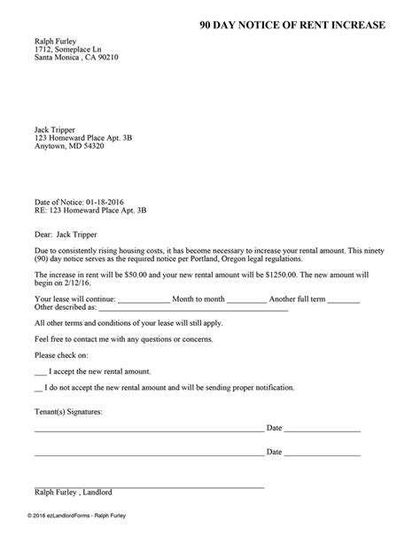 bc rent increase notice rtb 7 ez landlord forms