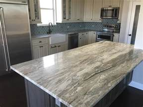 Granite Top Kitchen Island Fantasy Brown Island