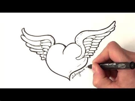 imagenes de amor para dibujar con lapicero como dibujar un corazon con alas como dibujar un corazon