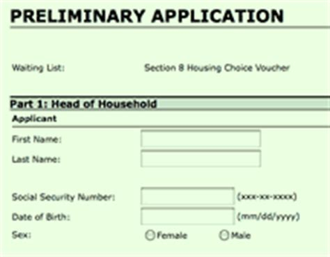 free section 8 online application online application for section 8 online application