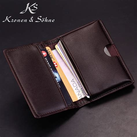 Name Card Holder Istana brand new ks brown quality genuine leather business name card holder cover id credit card holder