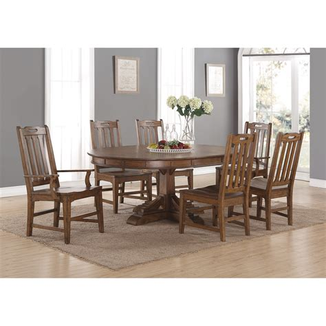 oval table and chair set flexsteel wynwood collection sonora mission formal oval