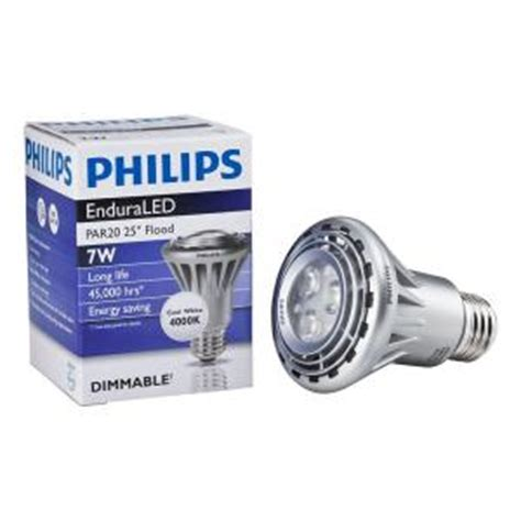 Lu Led Philips 7 Watt philips 7 watt 50w led par20 flood cool white 4000k