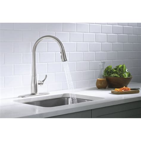 white kitchen sink faucets kohler kitchen sink faucets white