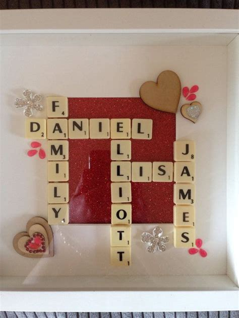 is ee a scrabble word scrabble frame word family tree box frame retro gift