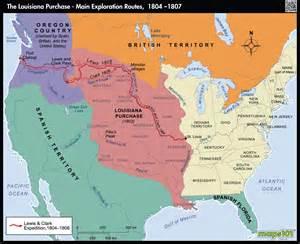louisiana purchase exploration routes 1804 1807 map