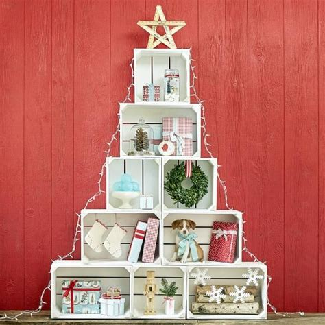 large christmas crate tree crates display and window