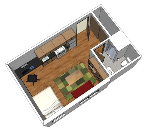 micro studio layout pushing the green envelope with micro housing studio g