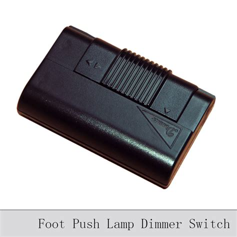 table l with dimmer control foot push l dimming switch black transparent floor l