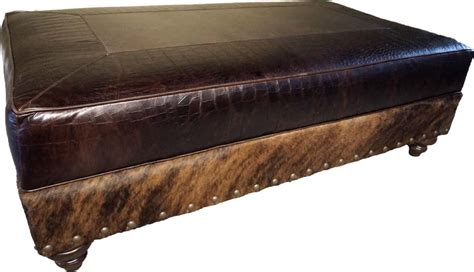 western ottomans croco cocktail ottoman western ottomans free shipping