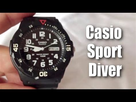 Casio Lrw 200h 2ev Sports Diver Look Rubber Original casio s mq24 7b2 analog black resin unb doovi