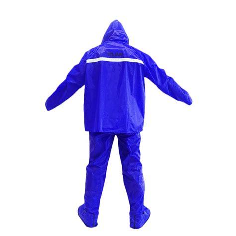 Optimus Jas Hujan Setelan Biru jual tojan jas hujan biru dan sepatu jas hujan biru