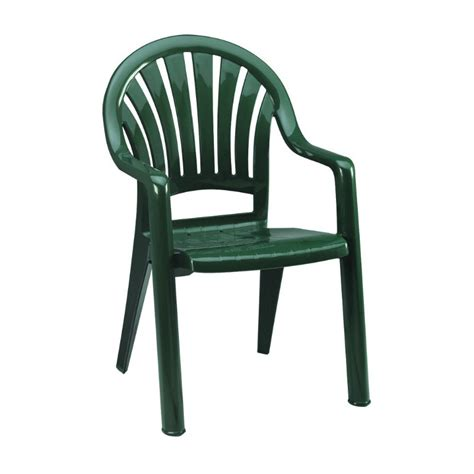Green Plastic Patio Chairs Pacific Fanback Resin Patio Dining Chair W Arms Most Popular Et T Distributors