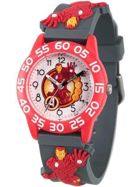 marvels avengers iron man boys red plastic time teacher