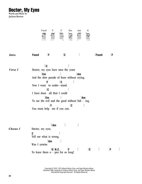 strumming pattern for blue eyes crying in the rain tablature guitare doctor my eyes de jackson browne