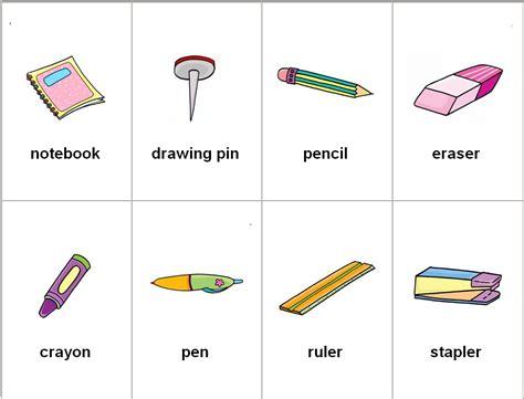 imagenes de objetos de utiles escolares objetos escolares en ingl 233 s imagui