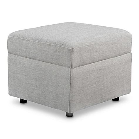 baby ottoman baby appleseed 174 crosby ottoman in grey buybuy baby