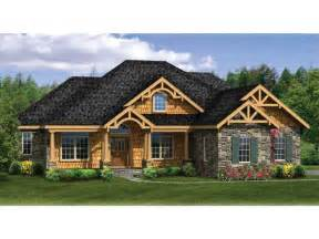 ranch home plans with basements craftsman ranch with finished walkout basement hwbdo76439