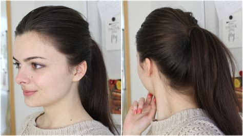 how to seeo pony tail with crown height get the perfect ponytail two ways youtube