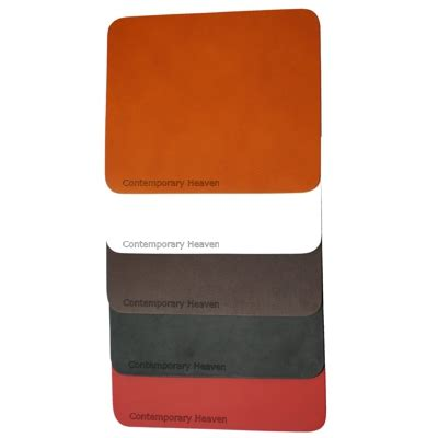 Personalised Mouse Mat by Genuine Real Hide Leather Mousemats Desk Mats Made In Uk