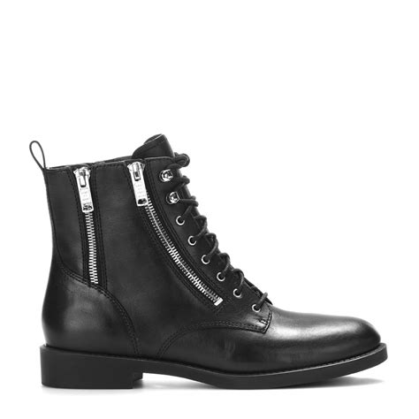 marc shoes marc by marc montague leather boots in black lyst