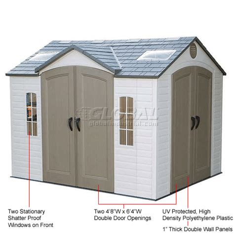 Lifetime Dual Entry Outdoor Storage Shed by 2 Question 2 Answer