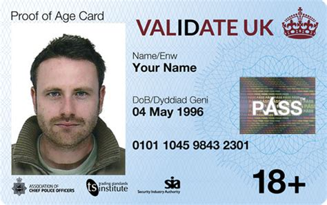 official uk id card photo id proof of age card