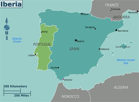 where is iberian peninsula on a map iberia travel guide at wikivoyage