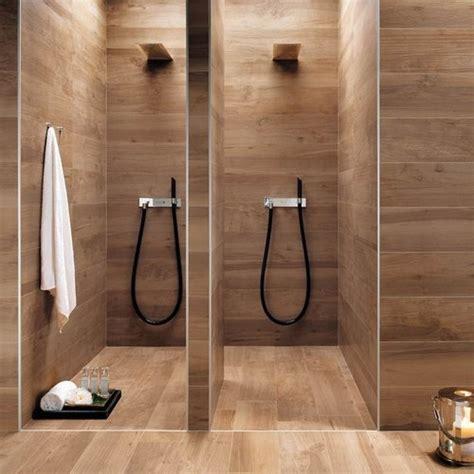 wood porcelain tile bathroom spa inspiration home atelier turner the design blog