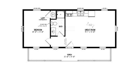 16x40 Lofted Barn Cabin Floor Plan On 16x40 Mobile Home 16x40 Lofted Cabin Floor Plans