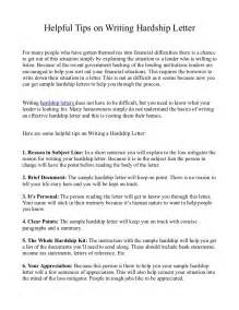 Hardship In Essay by Helpful Tips On Writing Hardship Letter